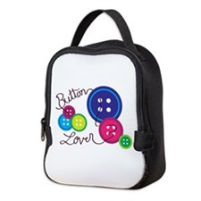 Button Lover Neoprene Lunch Bag