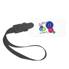 Button Lover Luggage Tag