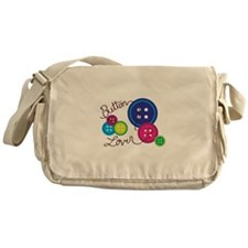 Button Lover Messenger Bag
