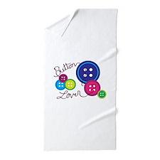 Button Lover Beach Towel