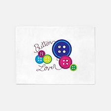Button Lover 5'x7'Area Rug