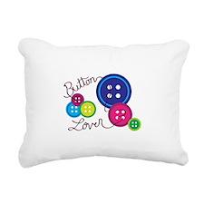 Button Lover Rectangular Canvas Pillow