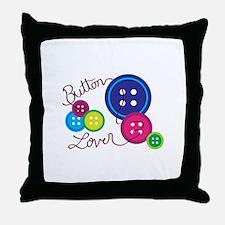 Button Lover Throw Pillow