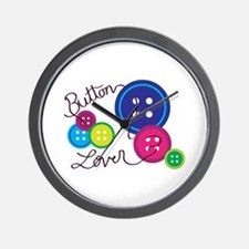 Button Lover Wall Clock