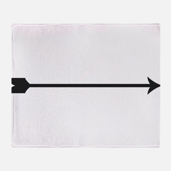 Black Arrow Throw Blanket