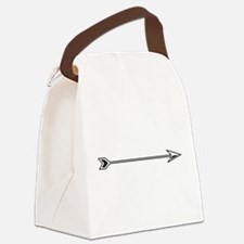 Black White Arrow Canvas Lunch Bag