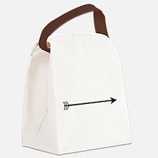 Black Arrow Canvas Lunch Bag