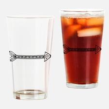 Black White Decorative Arrow Drinking Glass