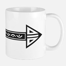 Black White Decorative Arrow Mugs