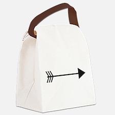 Silhouette Arrow Canvas Lunch Bag