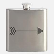 Silhouette Arrow Flask