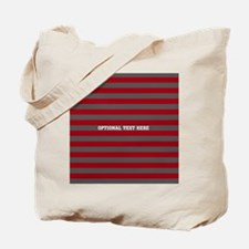 red gray rugby stripes Tote Bag