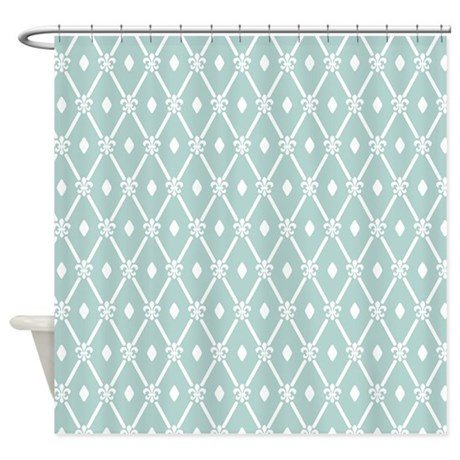 Modern Trellis Pattern Shower Curtain By Admin CP62117368