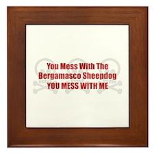 Mess With Bergamasco Framed Tile