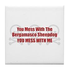 Mess With Bergamasco Tile Coaster
