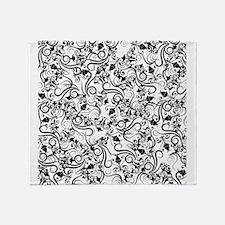 Black White Ornamental Flourish Damask Pattern Thr