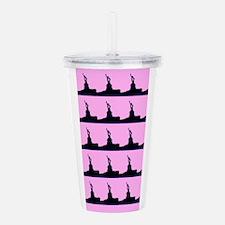 Pink Lady Liberty Acrylic Double-Wall Tumbler