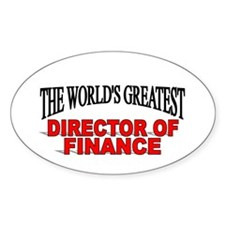 """""""The World's Greatest Director of Finance"""" Decal"""
