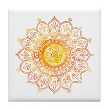Decorative Sun Tile Coaster