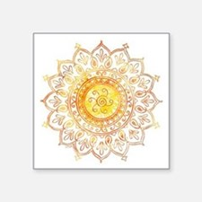 "Decorative Sun Square Sticker 3"" x 3"""