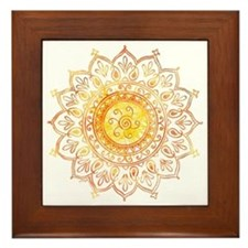Decorative Sun Framed Tile