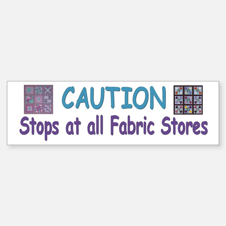 Fabric Bumper Bumper Bumper Sticker