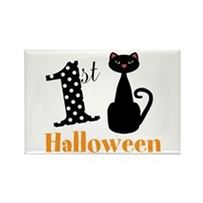 1st Halloween Cat Magnets