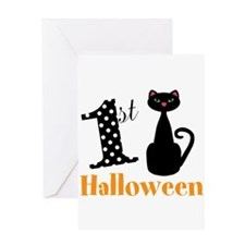 1st Halloween Cat Greeting Cards