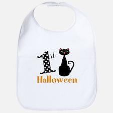 1st Halloween Cat Bib