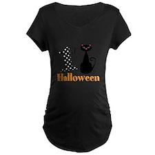 1st Halloween Cat Maternity T-Shirt
