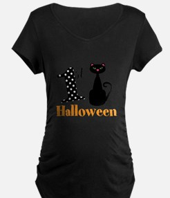 1st Halloween Cat Maternity T-Shirt