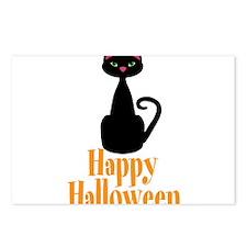 Happy Halloween Black Cat Postcards (Package of 8)