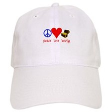Peace Love Pirate Booty Baseball Cap
