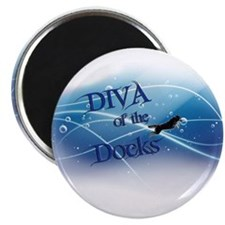 Diva Of The Docks Magnets
