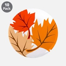 """Fall Leaves 3.5"""" Button (10 pack)"""