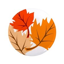 """Fall Leaves 3.5"""" Button"""