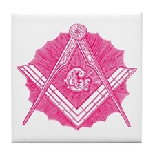 Masonic Design on Tile Coaster
