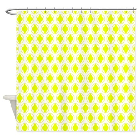 yellow moroccan quatrefoil pattern shower curtain by erics