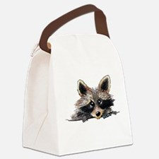 Pocket Raccoon Canvas Lunch Bag
