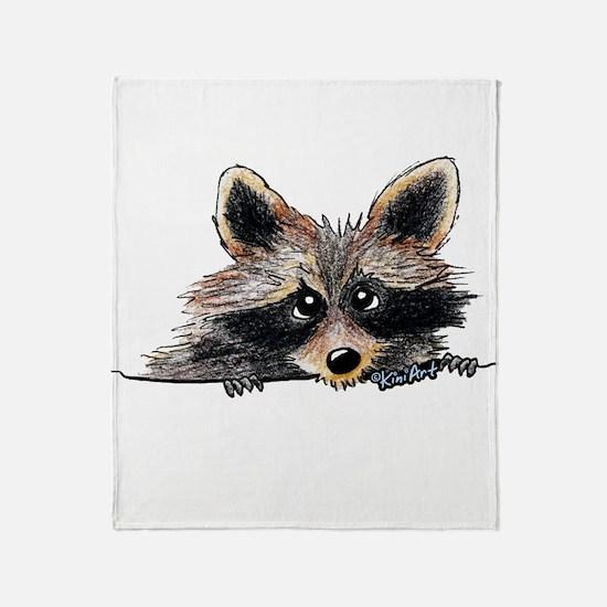 Pocket Raccoon Throw Blanket