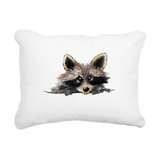 Pocket Raccoon Rectangular Canvas Pillow