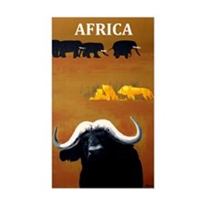 Africa Vintage Travel Decal