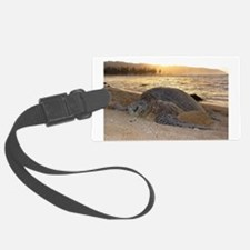 Honu at Sunset Luggage Tag