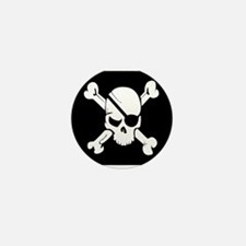 Jolly Roger Pirate Flag Mini Button (10 pack)