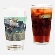 Flying dragon Drinking Glass