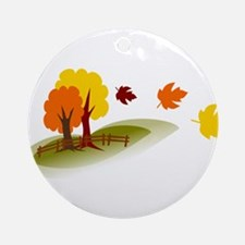 Fall trees Ornament (Round)