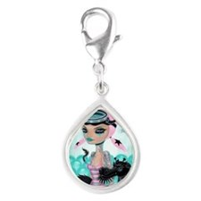 Diving Buddy Silver Teardrop Charm