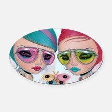 Genus Rainbowis Oval Car Magnet