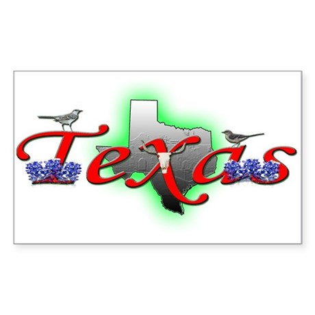 Texas Rectangle Sticker
