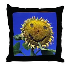 Smiling Sunflower Sq Throw Pillow
